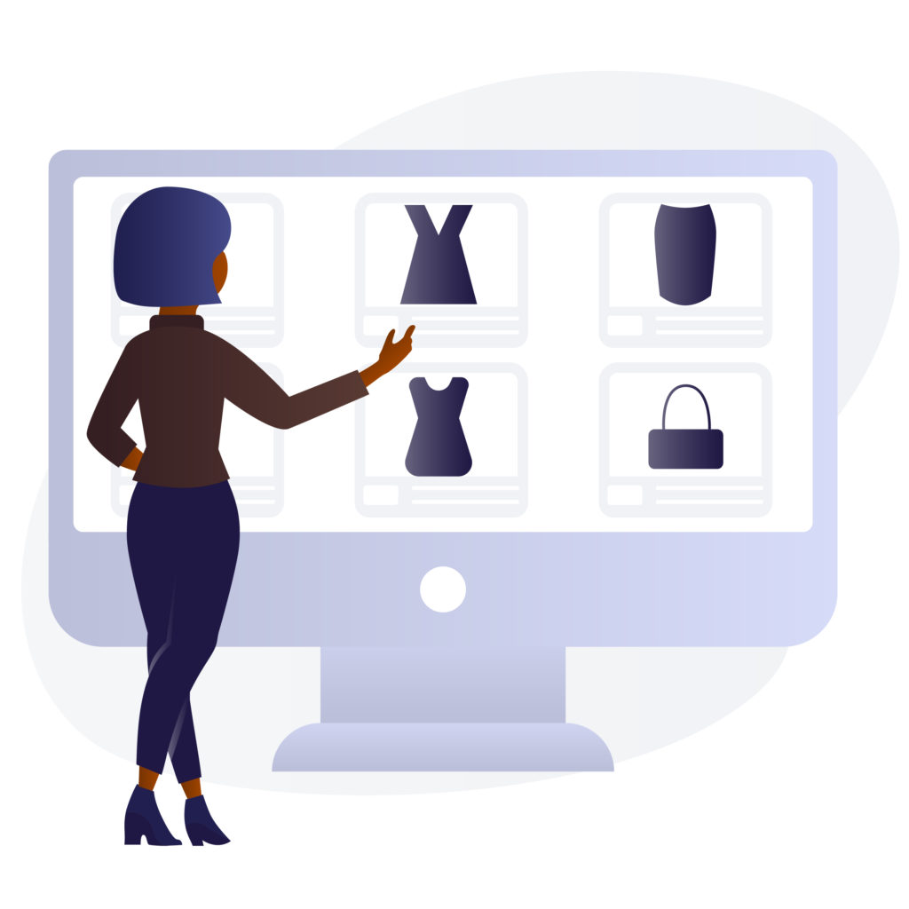 Black Woman Buying Online